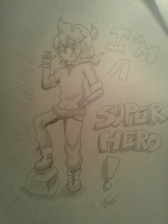 Dessin num 18 : I'm a Super Hero !