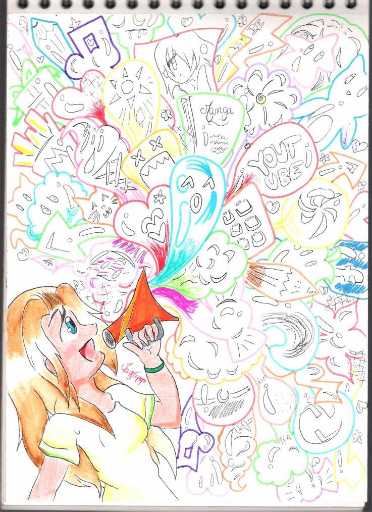Un doodling a ma façon ^^ ( Je me suis inspirée de ma sucette ^^ ) Bulle d'émotion ~ + Quiz !!