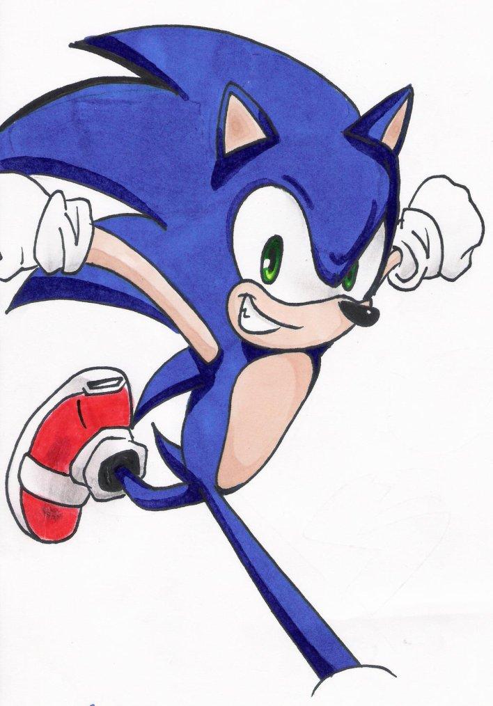 Dessin num 30 : Sonic the Hedgehog pour le premier avril sur mon blog !! ( t'a vu la rime ? //SBAFF// )