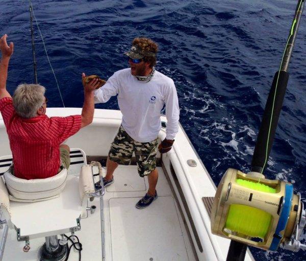 First Blue Marlin for Mr.Nielsen 450 lb