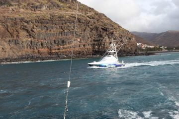 Tournament San Sebastian la Gomera,day 2,no fish caught today, no luck. The winner is Bocinegro with 1 marlin released and one bigeye, congratulation to Jason , Dani and Tony. Special thanks to Luis Corali and Manolo Hedonist accepted me on their boat for the tournament. Hope to give you back this if you come fishing Azores.