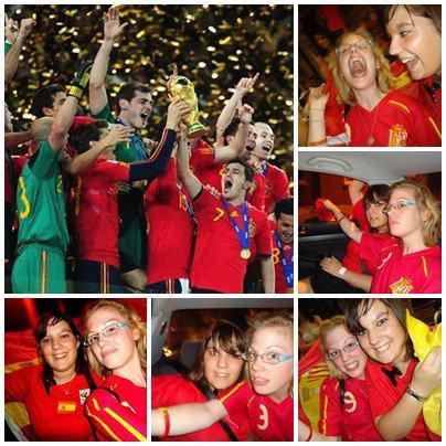 España Màs Que Todo ! 11 Juillet 2010 ; Enfin ils ont pu soulever cette coupe ! Je suis tellement Fiere ; Rojaa <3.