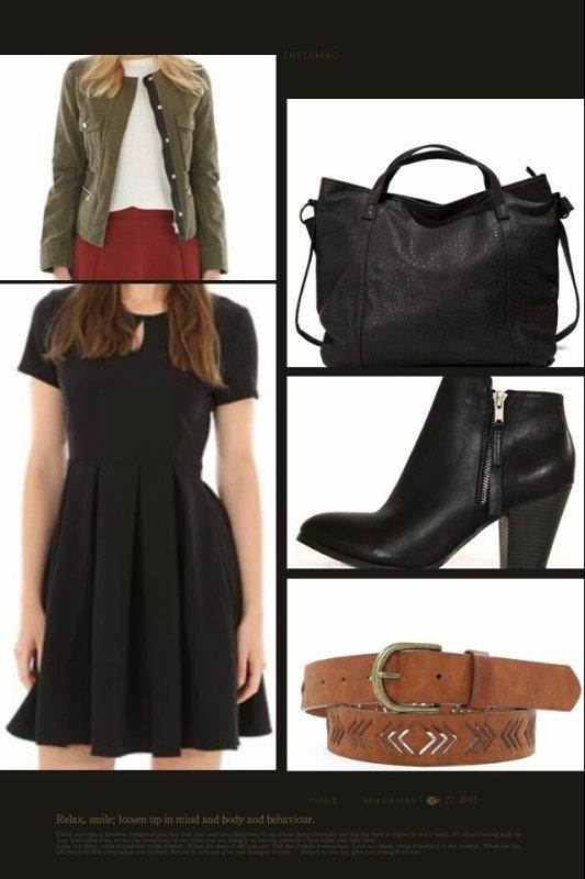 Look avec un basique du dressing: La robe noire.
