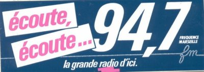 Fréquence Marseille 94.7 Mhz FM STEREO