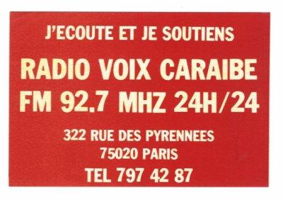Radio Voix Caraïbes 92.7 Mhz FM STEREO