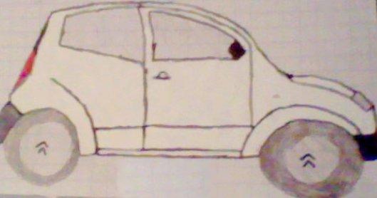dessin d'une Citroën C2