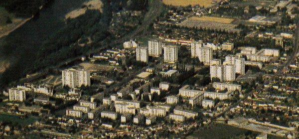 Vue aérienne de la Rabaterie, St Pierre des Corps.