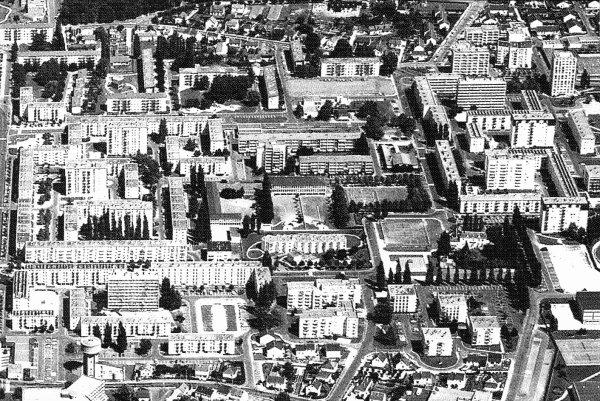 Vue Aérienne de la ZUP de la Rabière, Joué-les-Tours.