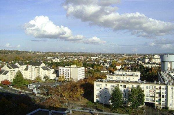 Vue depuis les tours de l'Aubrière, Saint-Pierre-des-Corps.