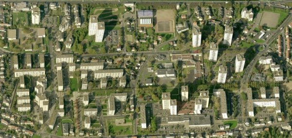 Une vue aérienne de la Rabâterie, Saint Pierre des Corps.