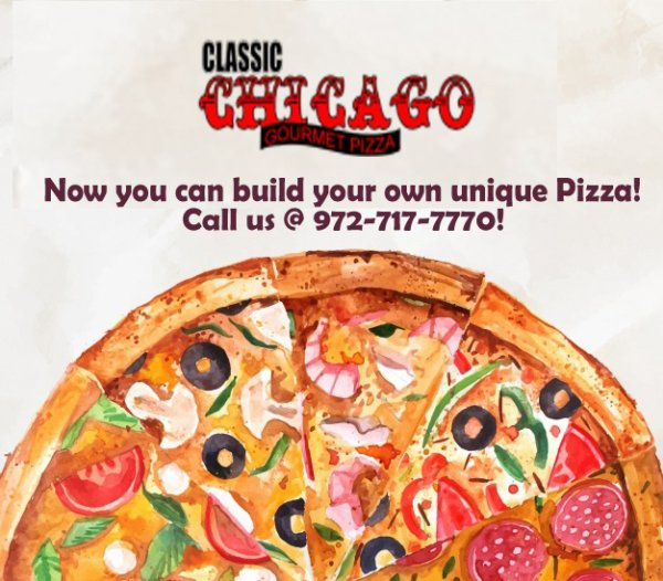 Classic Chicago Gourmet Pizza - Make Your Own Unique Pizza!