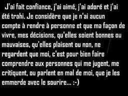 C'est ma vie, je la vis comme je.....