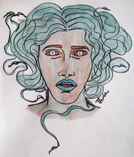 La méduse dessin pour concours