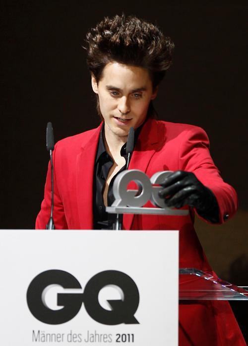 jared leto  winner  au  gq homme de l année 2011
