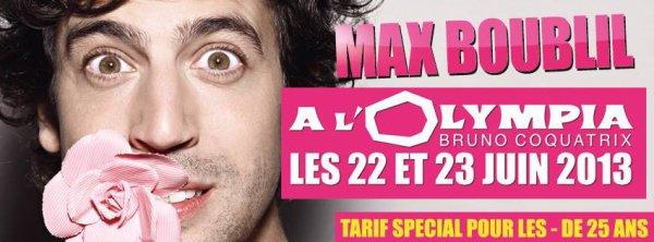 Max Boublil le 28 Mai à Dunkerque !