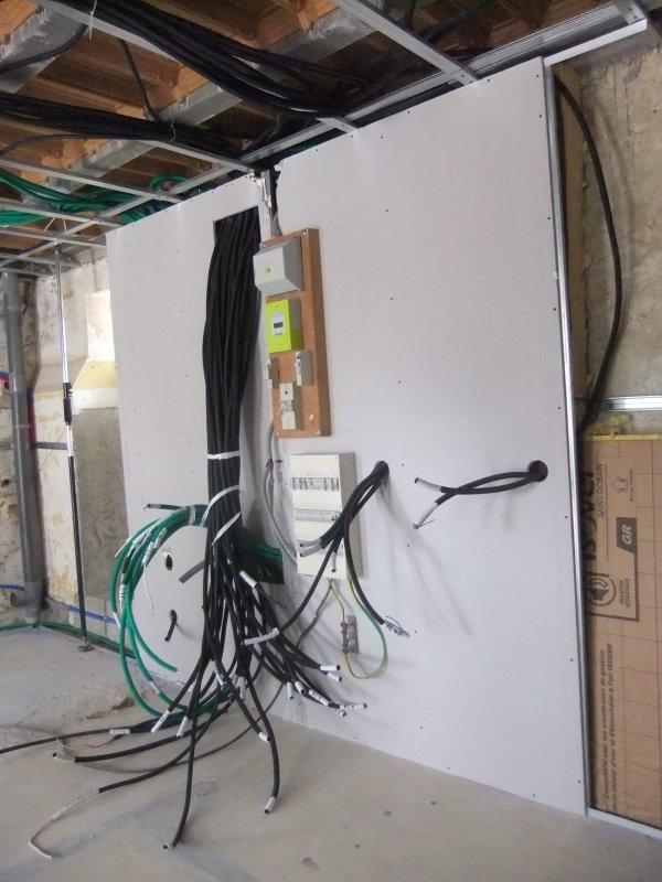 Passage de l'électricité terminé !