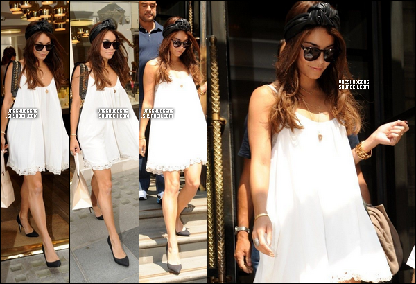 Mercredi 17 Juillet 2013 → Vanessa a été vue en train de quitter son hôtel situé dans Londres.