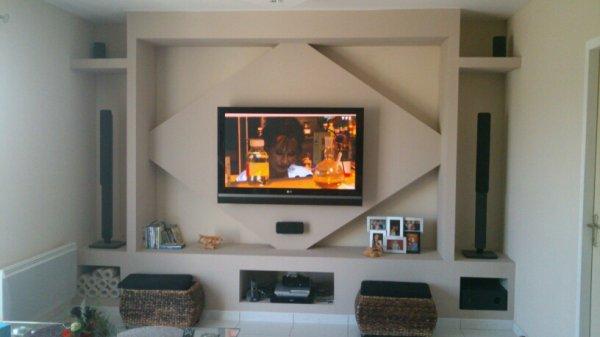 meuble télé  placodeco86 -> Tv Placoplatre