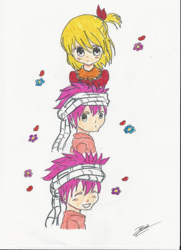 Dessin de Natsu et Lucy ♥