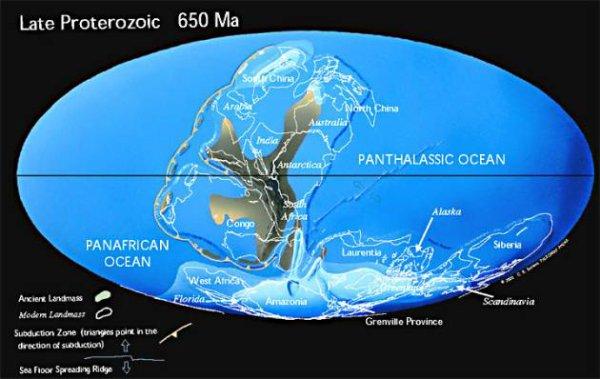 le Rodinia, il y a 650 millions d'années