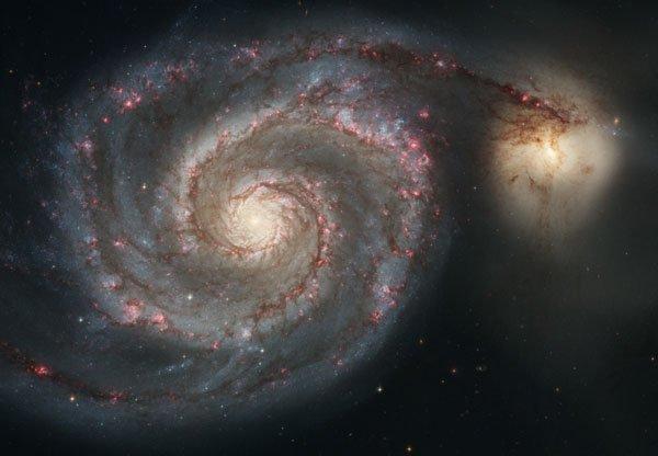 galaxie des chiens de chasse M51