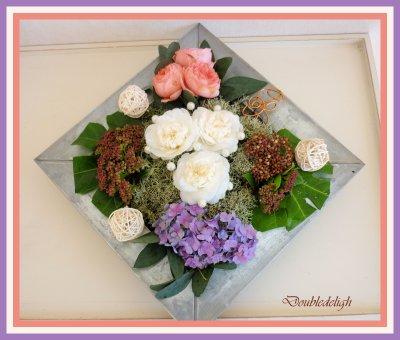 Toujours avec les fleurs du jardin ....
