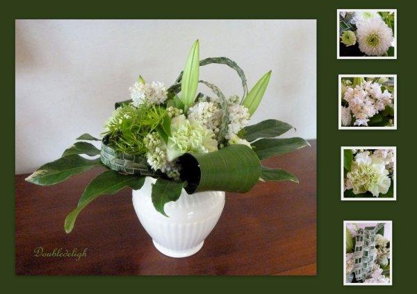 Bouquet rond avec tressage