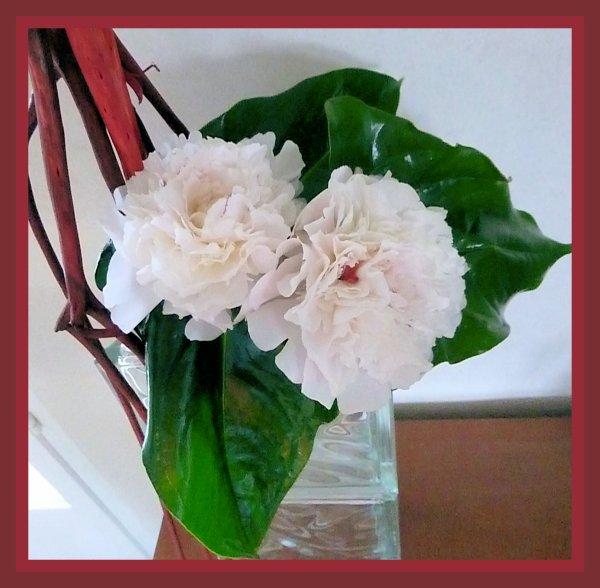 Après ma visite aux Floralies, une composition inspirée d'une création exposée ....