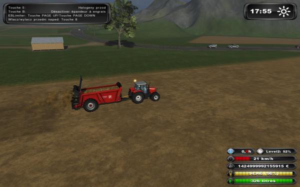 Fumier farming simulator avec fendt 305 fl épandeur gilibert 15tonne et mf 5475dyna 4