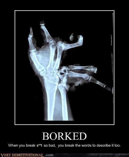 Il n'y a pas que les os qui se brisent ....