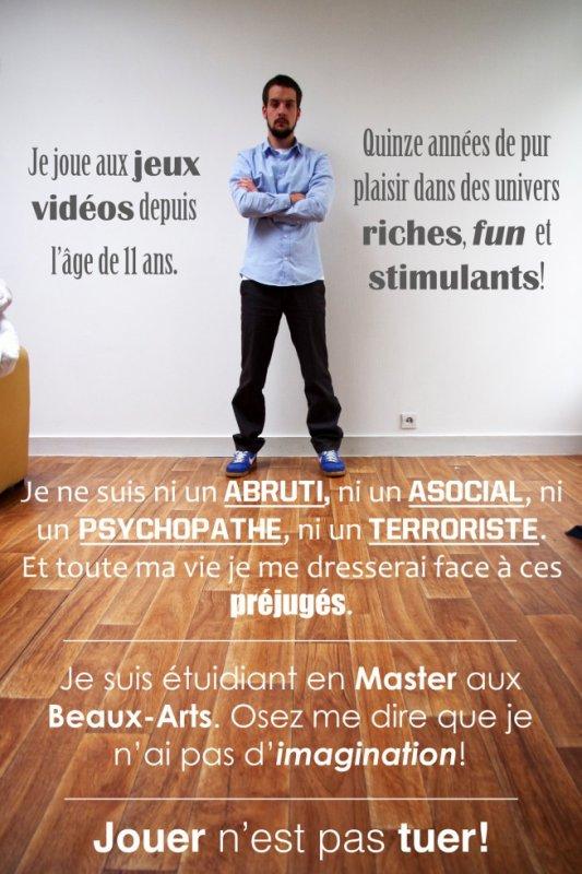 """Slogan: """"Jouer n'est pas tuer"""""""