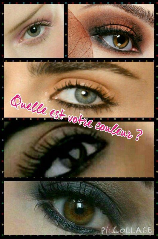 Se maquiller les yeux en fonction de leur couleur
