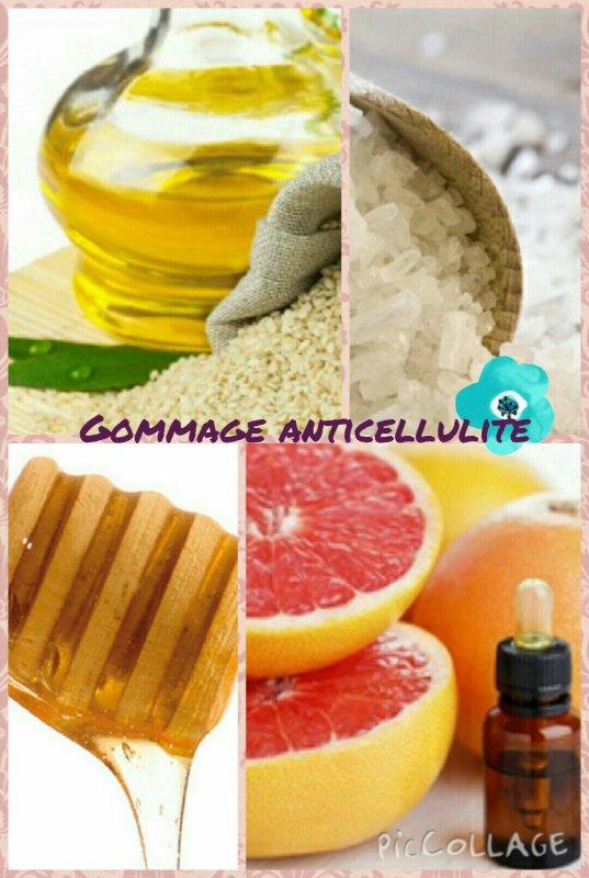 Gommage anticellulite (huile de sésame et pamplemousse)