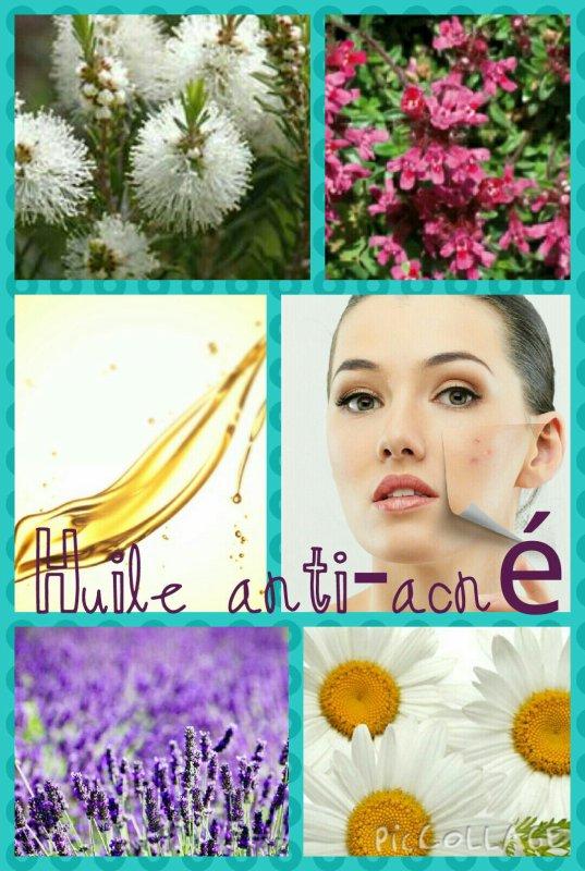 Huile anti-acné