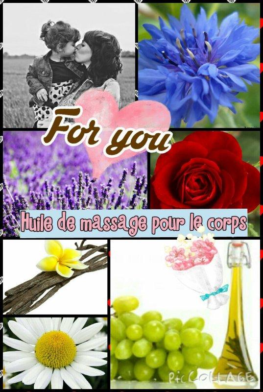 Huile de massage parfumée (+ divers parfums) / Spécial fête des mères 2015