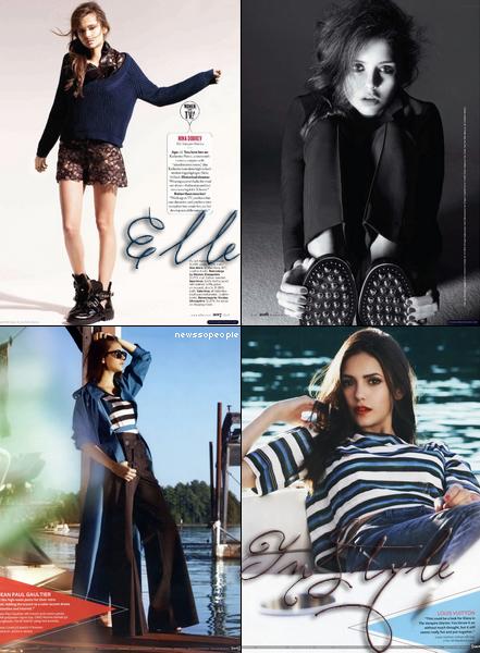 ~ Nina Dobrev Photoshoots Nina a posé pour le magazine In Style qui sortira ce mois-ci, ainsi que pour Elle qui sortira en février