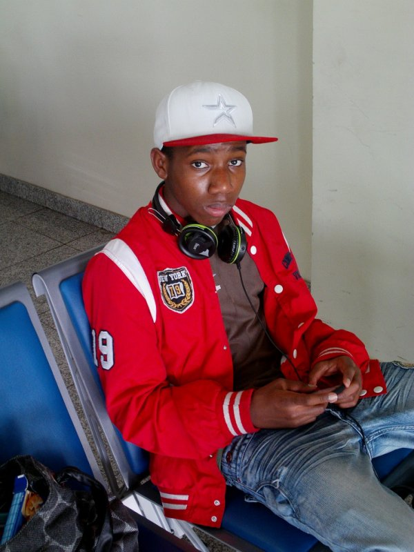 moi in l'aéroport du cap-vert