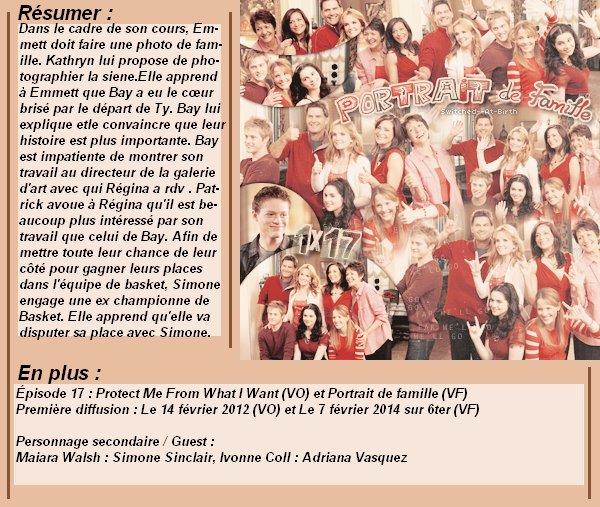 1x17 : Portrait de famille Clik sur le mots : Créa   l Déco l Texte l Recherche de liens : Promo & Episode en entier l