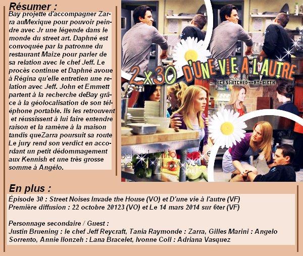 1x30 : D'une vie à l'autre Clik sur le mots : Créa   l Déco l Texte l Recherche de liens : Promo & Episode en entier l