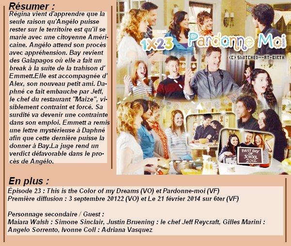 1x23 : Pardonne-moi Clik sur le mots : Créa   l Déco l Texte l Recherche de liens : Promo & Episode en entier l