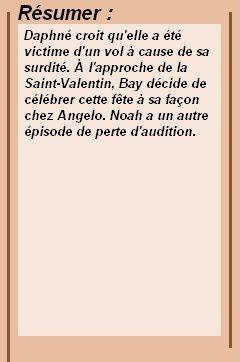 2x06 : L'anti Saint Valentin Clik sur le mots : Créa   l Déco l Texte l Recherche de liens : Promo & Episode en entier l