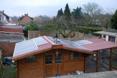 Panneaux photovoltaïque sur la maison du Harz