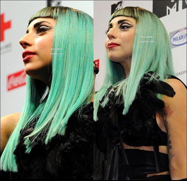 . Jeudi 23 Juin  -  Lady Gaga s'est rendu à la conférence de presse des MTV VMA au Japon..