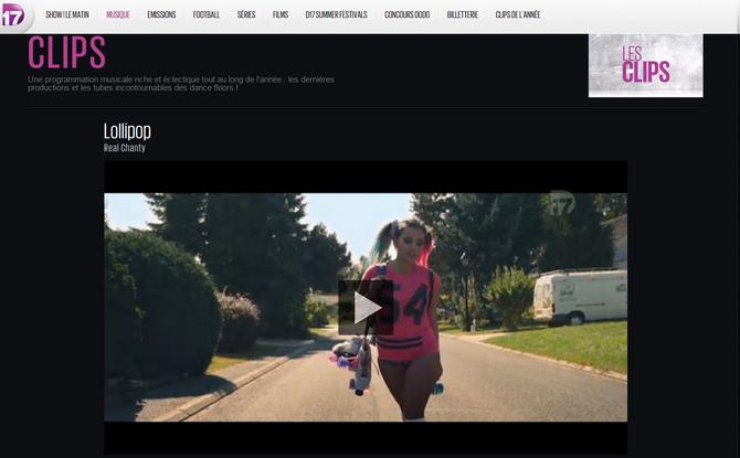 """Mon clip """"Lollipop"""" programmé sur la chaîne D17 !"""