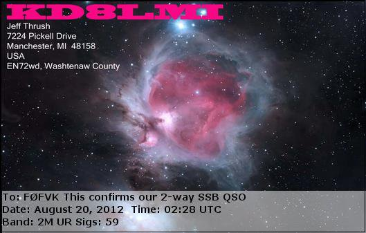 F0FVK FO29 SAT ONLY USA... LE 20/08/12   04:00  ELEVATION 3°