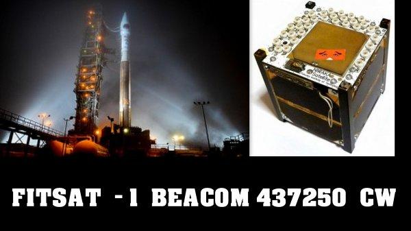 F0FVK / FITSAT - 1 / 437250 CW BEACOM....