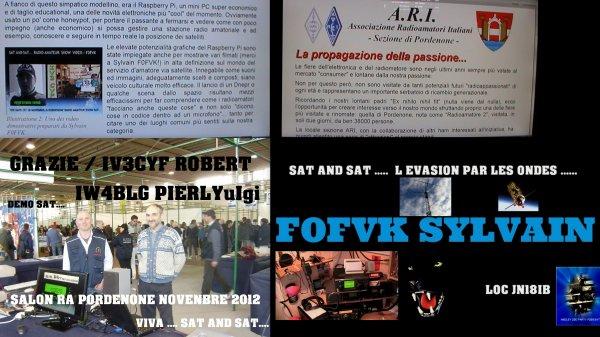 F0FVK / SALON  RADIO AMATEUR PORDENONE ITALIE NOVENBRE 2012 / DEMO SAT.....