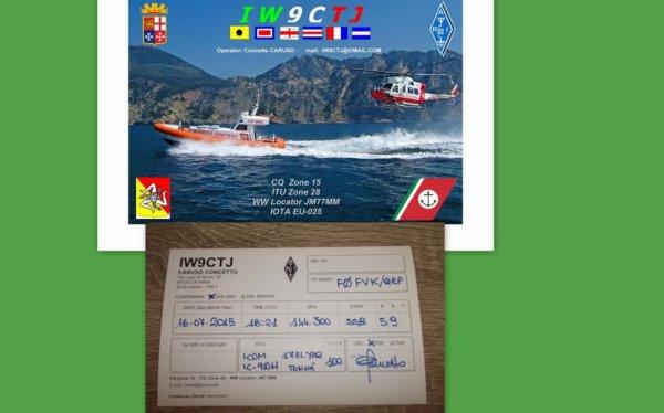 QSL IW9CTJ EU025 SICILE SPORADIQUE