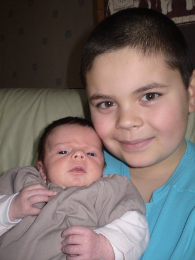 mon fils CORENTIN et Mayleen