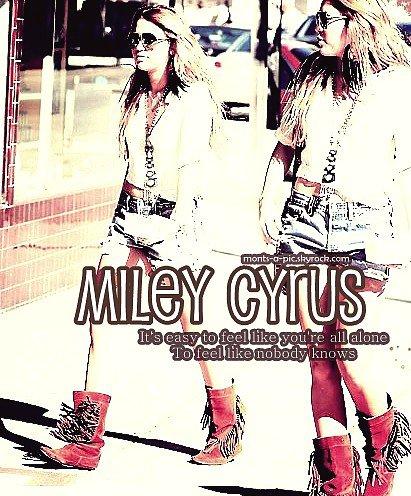 12.Fév.11: Petit montage de Miley